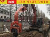 挖掘机光伏桩打桩机 水泥管桩压桩机厂家