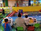儿童乐园设备 熊脚舵式遥控船 灯光音乐竞技功能 场面游艺设备