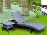 仿藤沙滩椅、花园户外休闲藤艺仿藤家具、PE仿藤沙滩床/躺椅