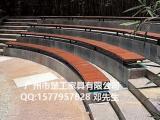 广场景观坐凳 钢铁结构休闲椅 防腐木坐凳厂家