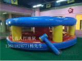 上海互动游戏真人打地鼠出租,新款迪士尼充气城堡出租