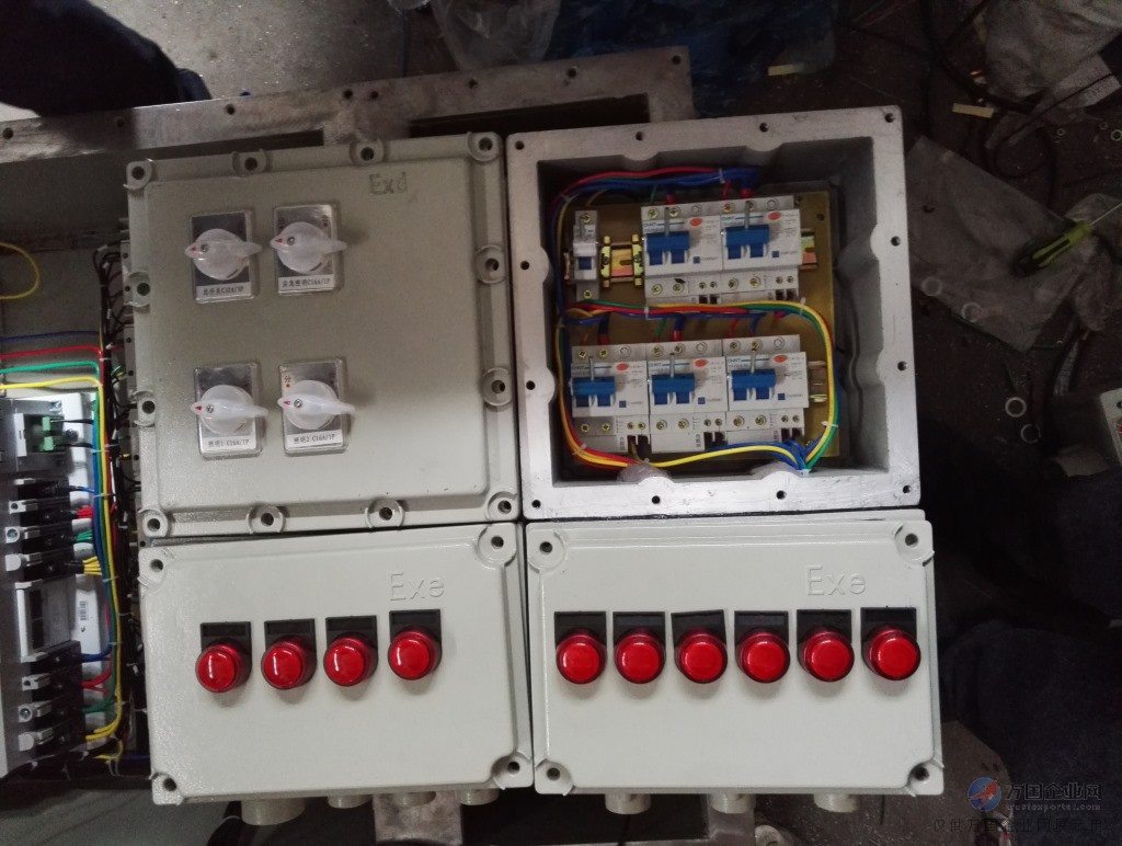 如防爆配电箱开关待漏电,须对应回路数分别描述漏电电流.   4.