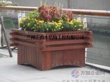 兰州街道隔离管径花箱 防腐木户外种植花盆