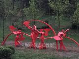 园林景观度假村不锈钢雕塑蝴蝶不锈钢抽象雕塑舞动的人