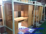 德阳公寓床厂家生产-喷塑-焊接-德阳带蚊帐杆公寓床-钢木床