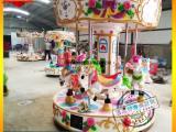 好玩的儿童乐园 6座豪华旋转木马游乐设备 大型电动儿童转马