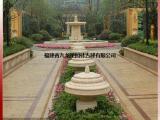 园区入口轴线水景雕塑 石雕跌水喷泉景观