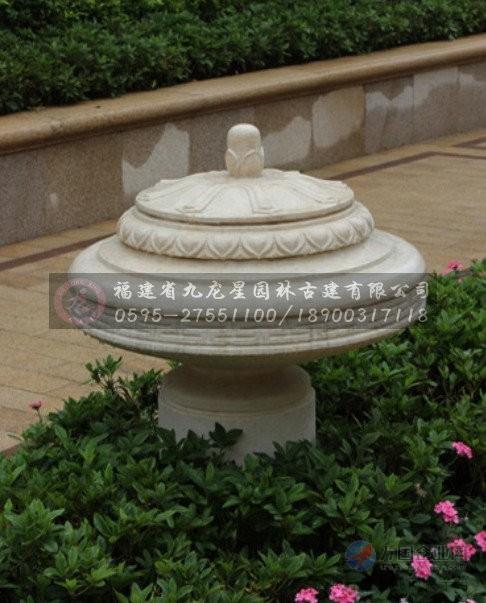 03  水钵/水槽 03  园区入口轴线水景雕塑 石雕跌水喷泉景观