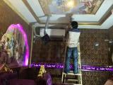【米纳蜂窝隔音板施工】天花板吸音隔音效果
