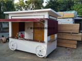 户外实木防腐售货车 景区早餐售卖车—园林景区建设小品