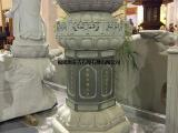 佛教寺庙中经常出现上下都是莲花台的柱子是什么-古石厚石雕