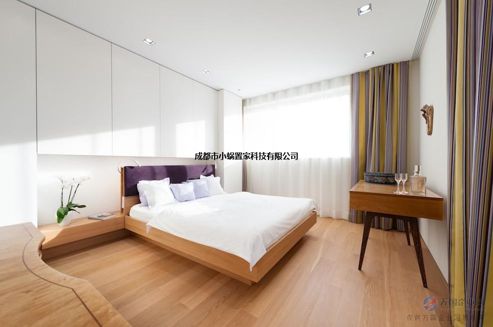 成都小蜗置家北欧全实木床简约现代主卧室环保家具白