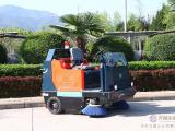 陕西普森市政环保电动驾驶扫地车
