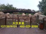 景区木护栏陕西仿木护栏厂家