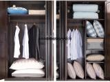 纯实木两门衣柜进口红橡木双门衣柜实木橱柜储物