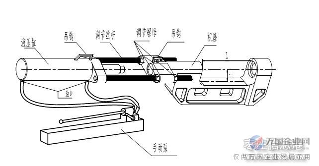 额外配手动泵,适合野外无电作业  手动压链机结构示意图