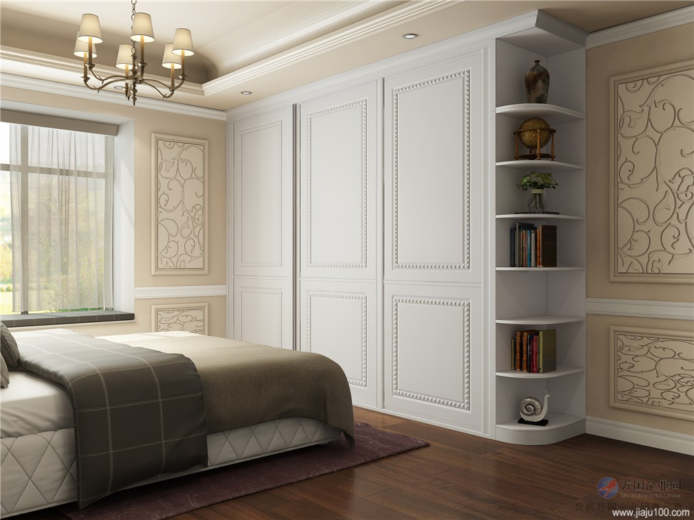 浪漫美式风格衣柜,卧室定制衣柜装修案例