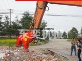 破拆混凝土为什么要选择挖掘机粉碎钳