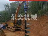 20吨挖掘机装多大扭矩的螺旋钻机