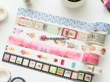 可爱手撕和纸胶带彩色整卷卡通手工DIY手帐相册日记手账装饰