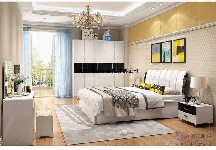 現代臥室套裝家具組合雙人床衣柜臥室成套家具