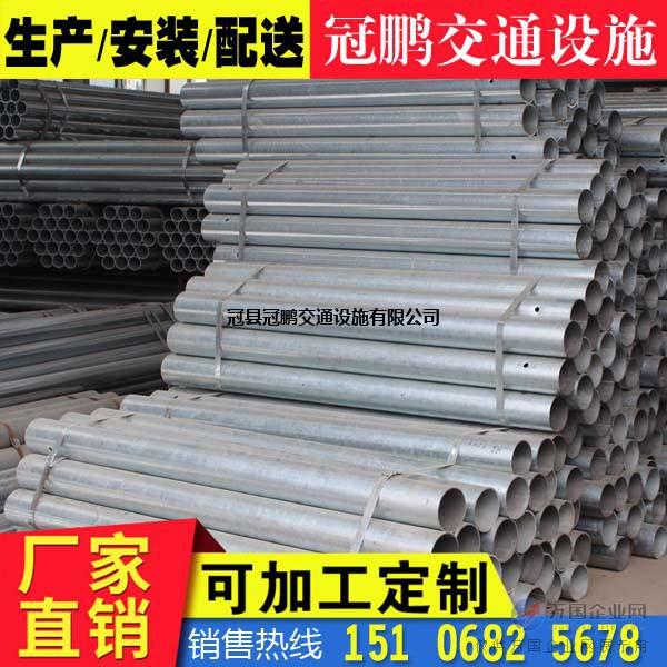 镀锌圆立柱 护栏板立柱生产销售安装