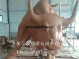 铸造广场大牛铜像厂家_大牛铜像_恒保发铸铜动物雕塑