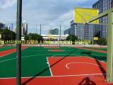篮球场羽毛球场硬性丙烯酸 弹性丙烯酸 硅PU地坪涂料及施工