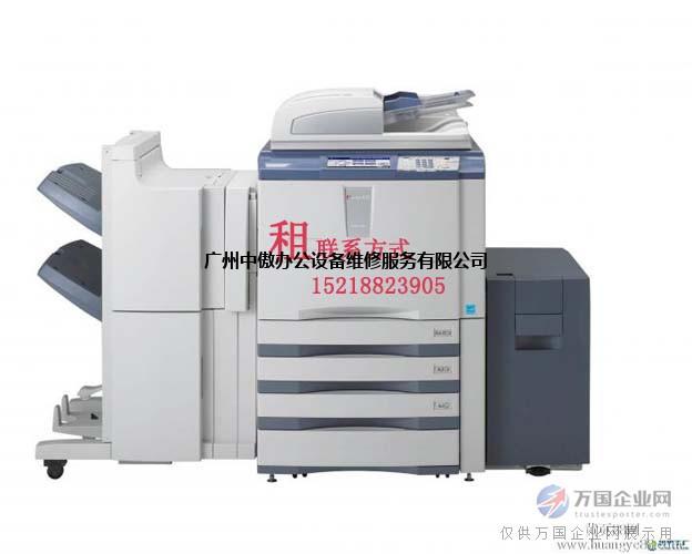 广州黑白彩色复印机一体机租赁免费