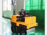 无级变速双轮压路机性能优越小型手扶式压路机微型压实机