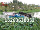 公园景区除草船、收割打捞水草机械、割草船