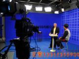 扇形蓝箱虚拟演播室让演播室整体上更广阔