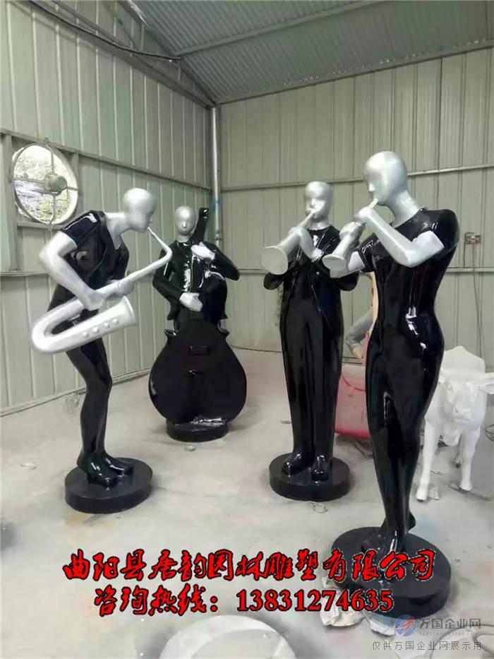 抽象音乐人物雕塑,音乐演奏雕塑小品