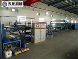 天拓 玻璃钢宽幅胶衣车厢板生产线 2
