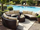 户外沙发休闲半圆沙发别墅花园欧式沙发组合