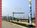 新型陶瓷杆交通灯 景德镇青花龙纹定做图案 陶瓷柱子