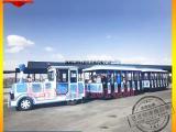 无轨观光小火车游乐设备 仿古游乐场景点观光火车公园火车
