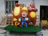 广东雕塑厂家,广东玻璃钢雕塑厂家,熊出没雕塑价格