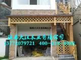 陕西木门头|仿古门头制作|防腐木建筑