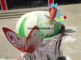 定制园林景观小品雕塑玻璃钢仿真蝴蝶模型制作厂家
