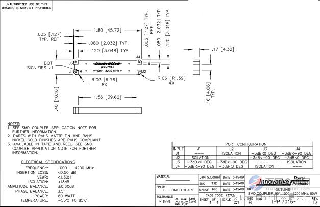 有源器件 03  专用集成电路 03  ipp ipp-7015 90°耦合 3db电桥