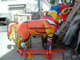 玻璃彩绘马雕塑