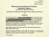 英国药监局颁发的欧盟自由销售证书、自由销售证明、FSC证书