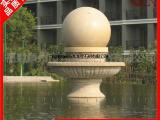 惠安石雕风水球 园林景观风水球雕刻 石材枫叶红风水球安装试水