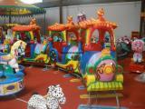 大型游乐场设备儿童轨道火车游乐公园广场