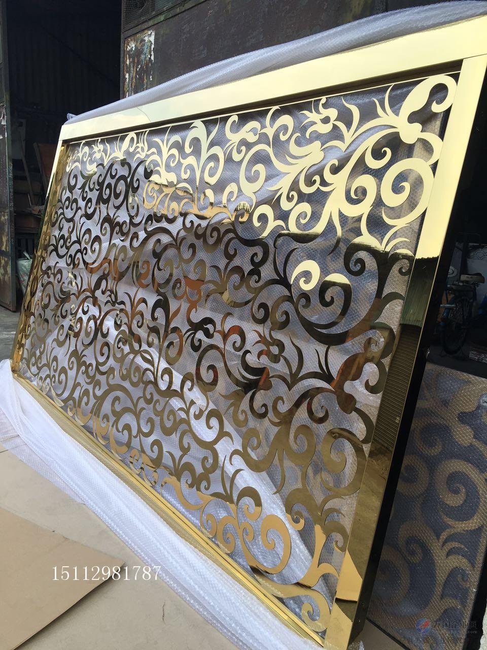 不锈钢花格,不锈钢镂空板,不锈钢雕花板等,款式新潮,华丽时尚,大方