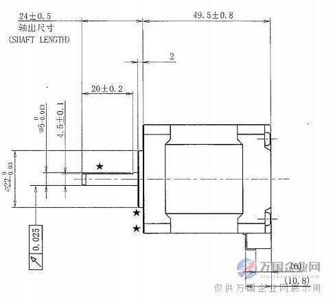 日本信浓步进电机非标尺寸stp-42d4042