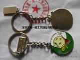 专业金属钥匙扣定做动漫logo钥匙扣设计旋转钥匙扣制作厂家