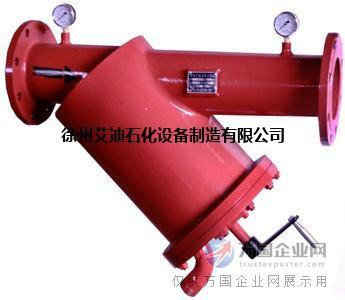 徐州艾迪SBD-SS型碳钢手摇刷式过滤器 半自动冲洗过滤器