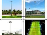 室外体育场馆照明灯杆 优格足球场锥形镀锌灯杆 两节式设计